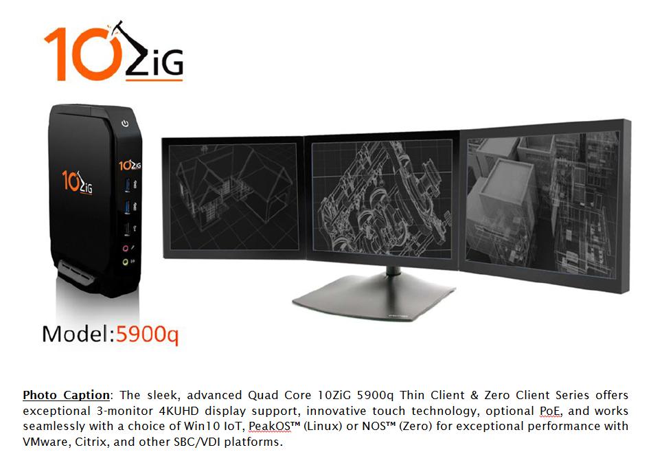 4K Thin Client | 4K Zero Client | 10ZiG 5900q Series