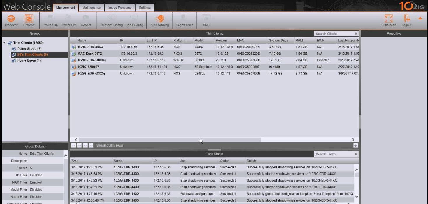 10ZiG Manager Zero Client Software for Management | 10ZIG
